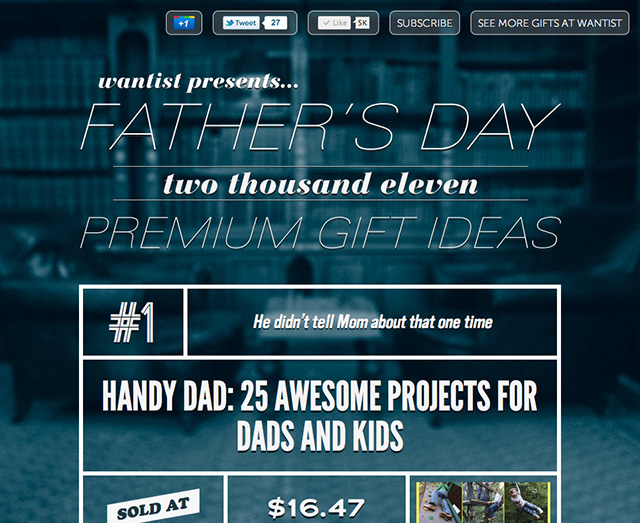 Wantist presents...Father's Day 2011 Premium Gift Ideas